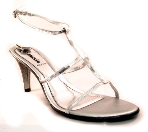 Adesso Italian made Silver party sandal